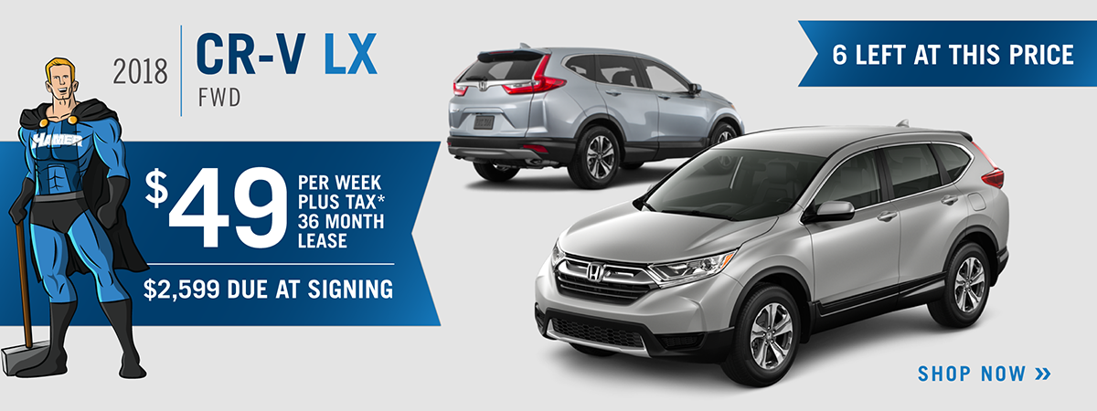 *Closed End Lease Financing Available Through 10/31/2018 For A New, Unused  New 2018 CR V LX 2WD On Approved Credit To Highly Qualified Customers By  Honda.