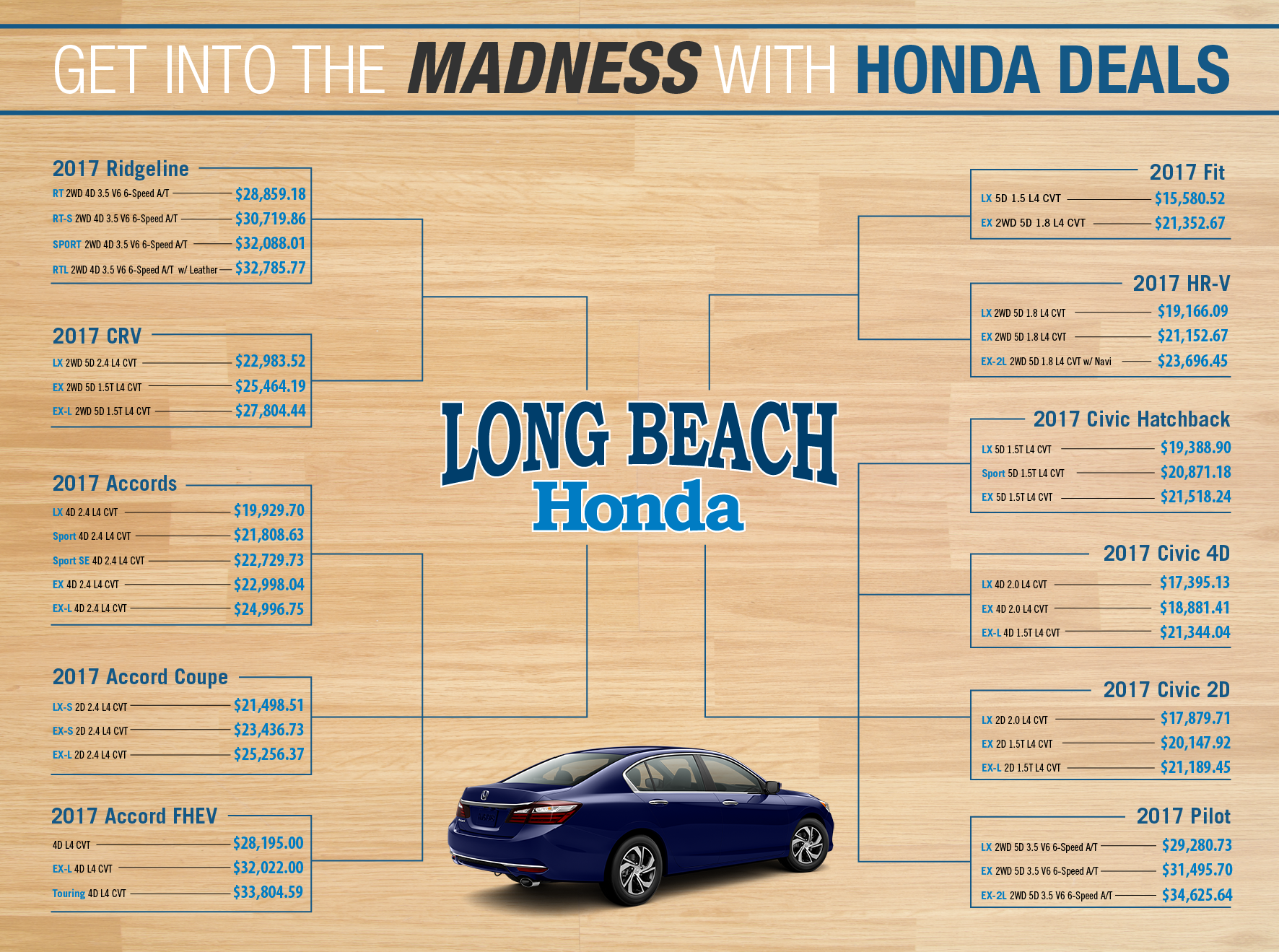 march madness long beach honda