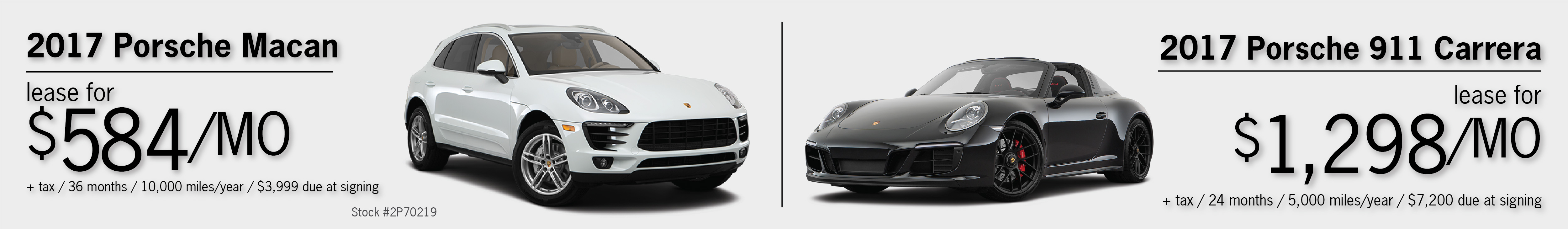 2017 Macan & 2017 911 Carrera