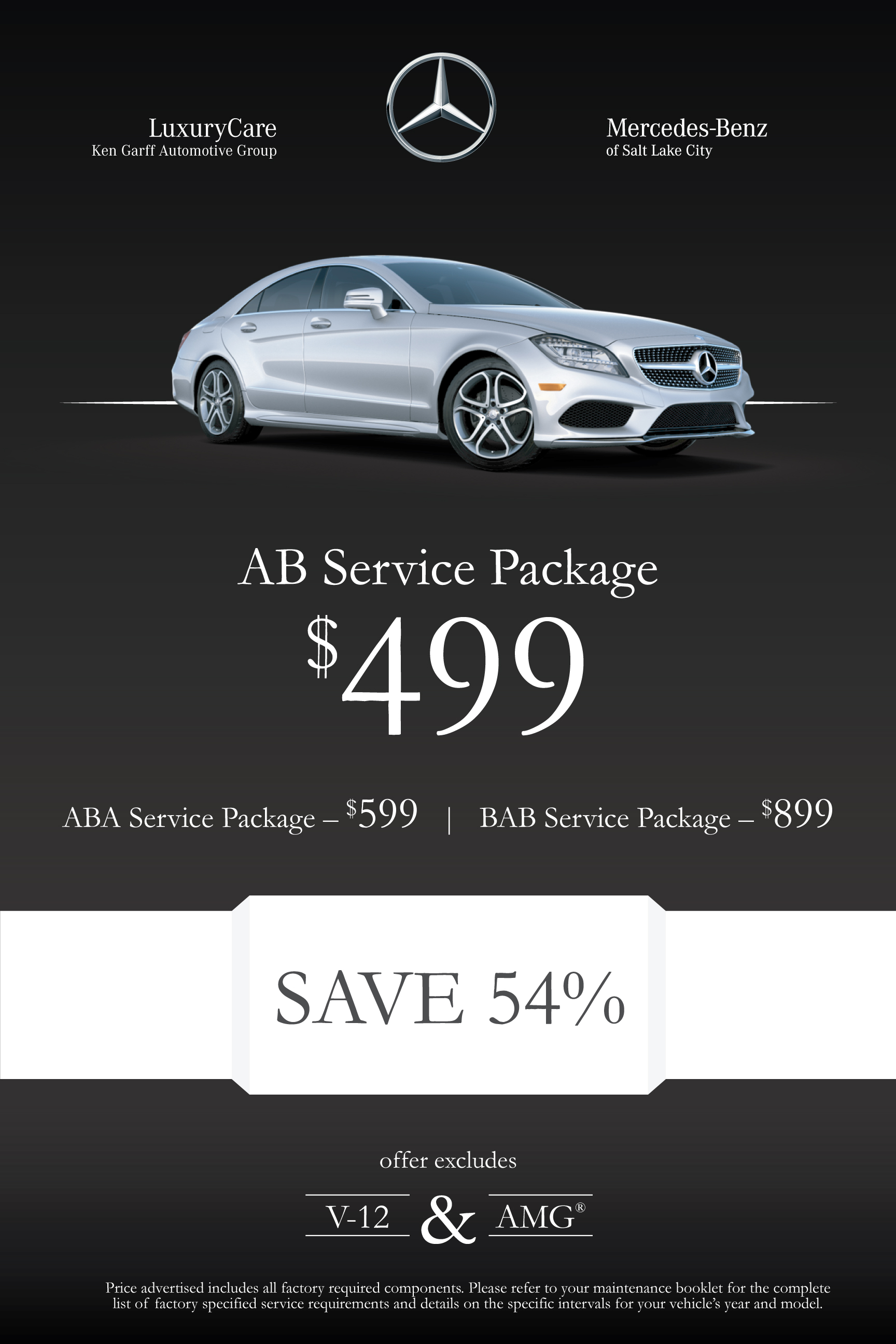 Luxury care prepaid maintenance program mercedes benz for Mercedes benz service discount