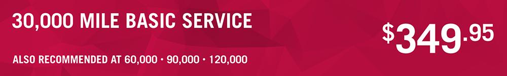 30,000 Mile Basic Service