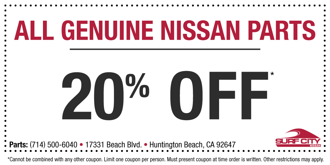 Nissan courtesy parts discount coupon