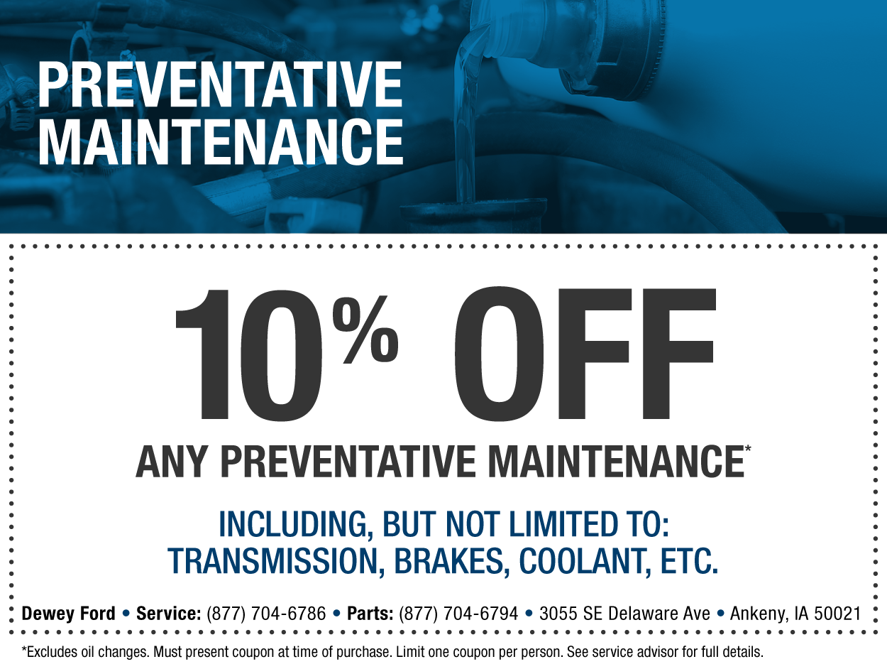 Ford service coupons